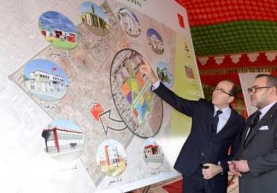 جلالة الملك يطلق مشاريع تهم إعادة الهيكلة والإدماج الحضري لحيي الهراويين الشمالية وسيدي أحمد بلحسن
