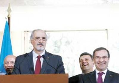 الجعفري : رحيل وفد المعارضة يسهل حل الأزمة السورية