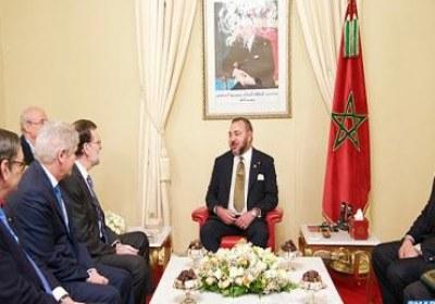 جلالة الملك يستقبل رئيس الحكومة الاسبانية السيد ماريانو راخوي