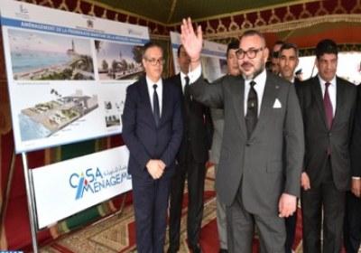 جلالة الملك يعطي انطلاقة أشغال تهيئة المنتزه البحري لمسجد الحسن الثاني بالدار البيضاء