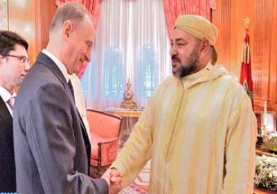 جلالة الملك يستقبل بالقصر الملكي بالدار البيضاء أمين مجلس الأمن بفدرالية روسيا