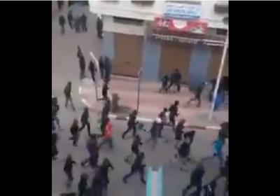 مشاهد مثيرة: بين جمهور شباب الحسيمة و الوداد البيضاوي في المدينة