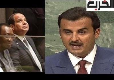 """بالفيديو :لأول مرة أمير قطر يحرج السيسي ويقول """"يجب معاقبة السيسي لإنقلابه على رئيسه ولتدخله في ليبيا"""""""